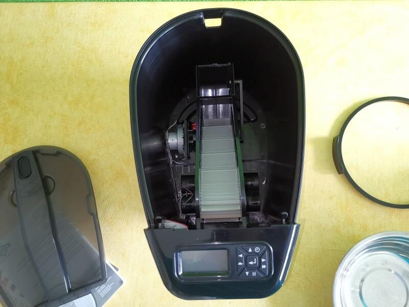 Das Innere des PetSafe Healthy Pet Futterautomaten.